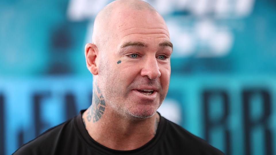 Lucas Browne has grown tired of Paul Gallen's repeated barbs about his track record with drug testers. (Photo by Mark Metcalfe/Getty Images)