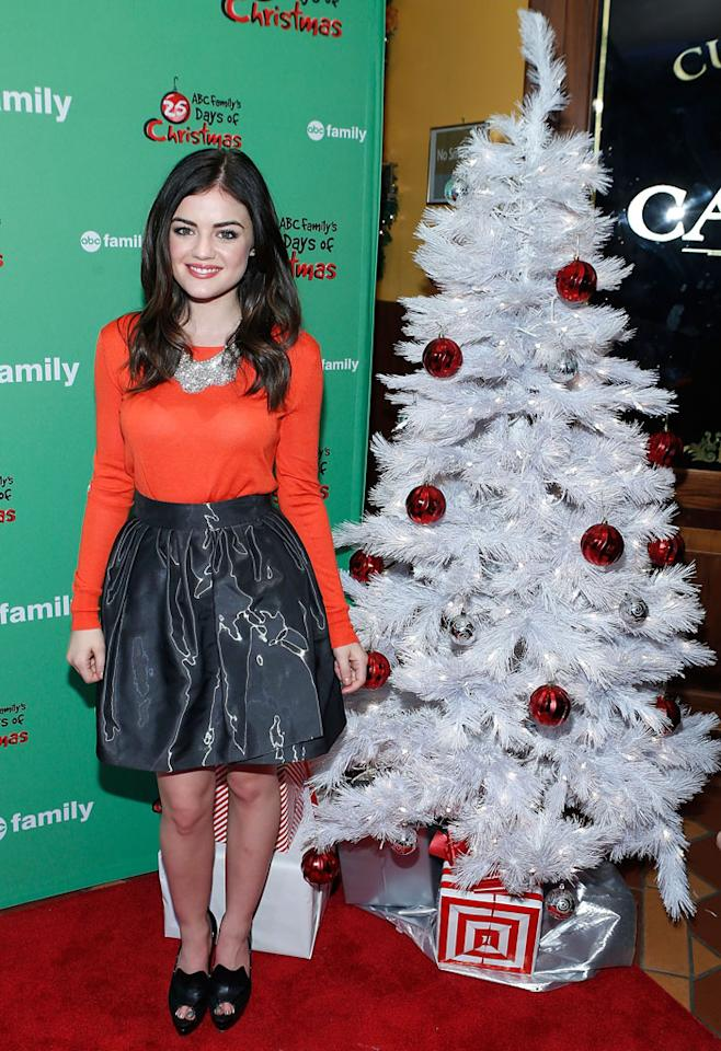 "Lucy Hale attends ABC Family's ""25 Days Of Christmas"" Winter Wonderland Event at Rockefeller Center on December 2, 2012 in New York City."