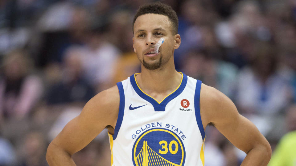 Steph Curry is catching heat for a recent video posted on Twitter. (AP)