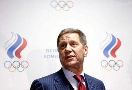 Russian Olympic Committee head Alexander Zhukov addresses journalists after an extraordinary meeting on issues, connected with Russian athletics team and federation, and held by the executive committee of the Russian Olympic Committee in Moscow, Russia, November 18, 2015. REUTERS/Maxim Zmeyev /Files