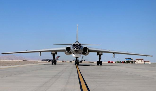 A Y-20 airlifter was also seen at the airfield thought to be in the Tibet autonomous region. Photo: Weibo