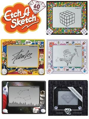 The Etch A Sketch® Brand draws in the classics with a series of limited edition collaborations to mark the 60th anniversary year. (CNW Group/Spin Master)