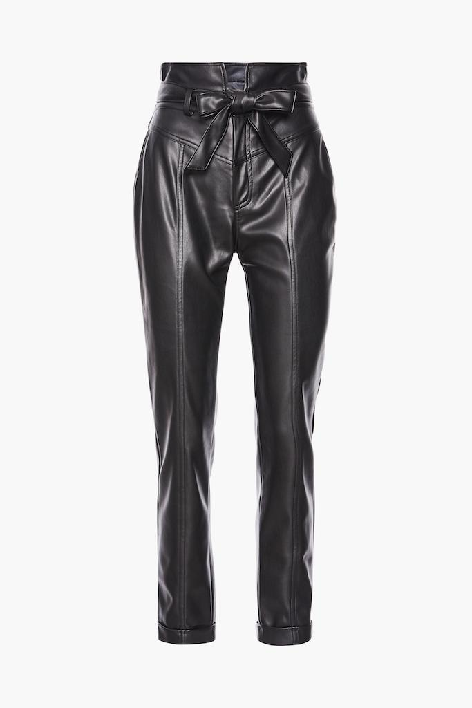 HR-Belted-PU-Trousers-Black