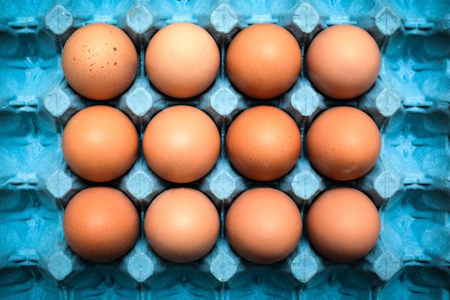The COVID-19 outbreak has seen the UK public stockpiling various items including hen-laid eggs. (Getty Images)