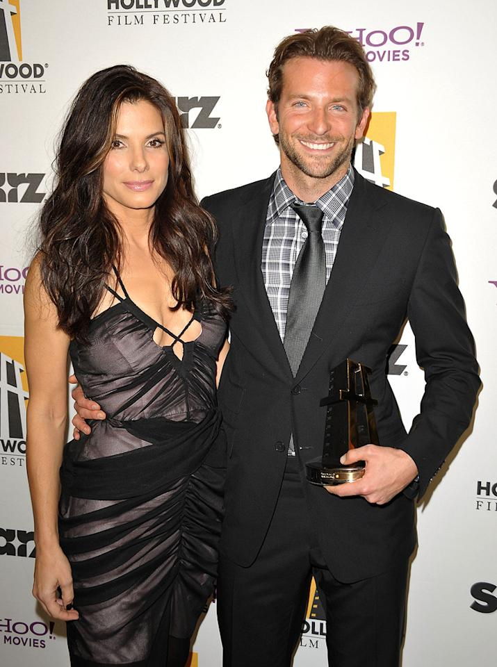 """<a href=""""http://movies.yahoo.com/movie/contributor/1800018970"""">Sandra Bullock</a> and <a href=""""http://movies.yahoo.com/movie/contributor/1804751131"""">Bradley Cooper</a> at the 13th Annual Hollywood Awards Gala held at the Beverly Hilton Hotel - 10/26/2009"""