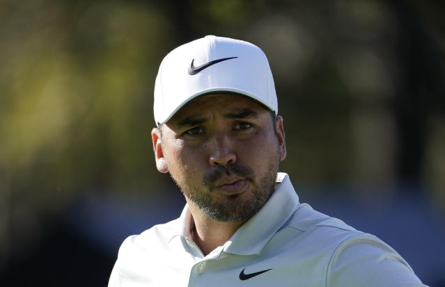 Jason Day of Australia walks after his tee shot on the first hole during the pro-am event of the Zozo Championship PGA Tour at Accordia Golf Narashino C.C. in Inzai, east of Tokyo, Japan, Wednesday, Oct. 23, 2019. (AP Photo/Lee Jin-man)