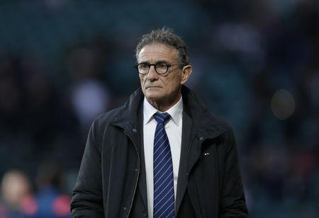Britain Rugby Union - England v France - Six Nations Championship - Twickenham Stadium, London - 4/2/17 France coach Guy Noves before the match  Action Images via Reuters / Henry Browne Livepic