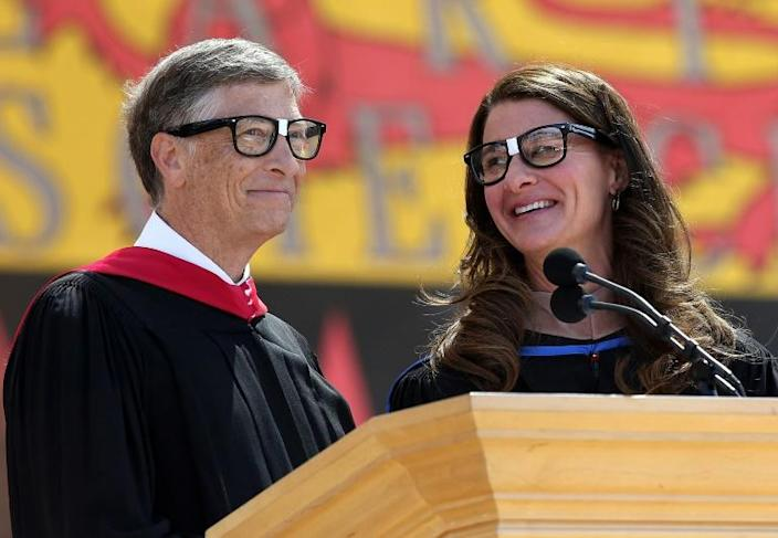 """""""In the case of Melinda, it is truly an equal partner,"""" Microsoft founder and chairman Bill Gates said of his wife (pictured June 2014)"""