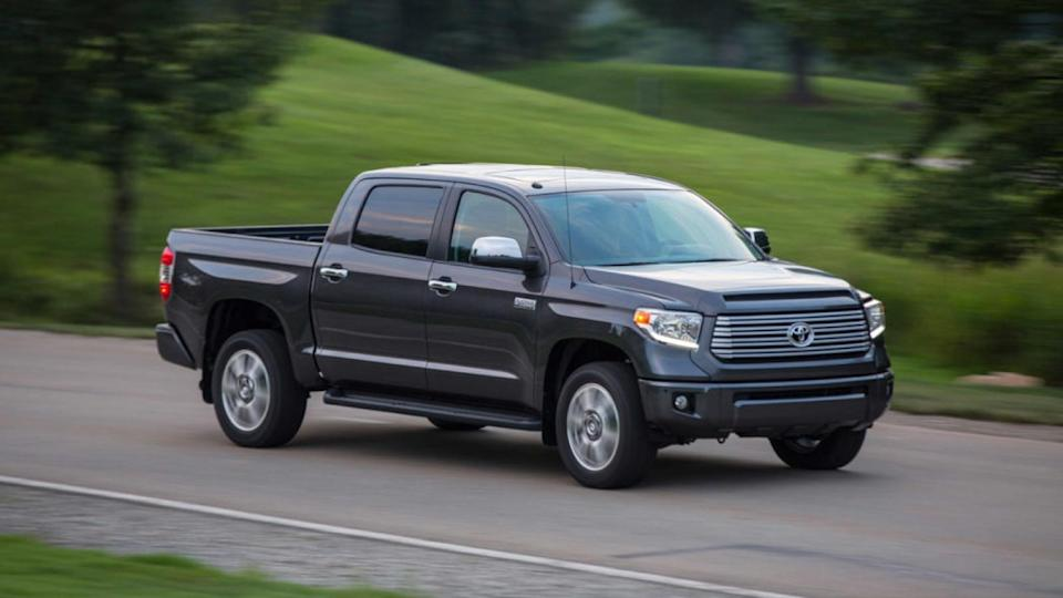 <p>Number 4: <strong>Toyota Tundra</strong><br> Average 5-year depreciation percentage: <strong>35.9%</strong></p> <p>Each and every year, fullsize pickup trucks sit atop the sales charts here in the United States, led for as long as we can remember by the Ford F-Series. Interestingly, the Toyota Tundra is the only large truck to show up on this list. Credit Toyota's dependable reputation and the fact that it's sold in lower volumes than its American competitors with its strong fourth-place finish in the resale value rankings.</p>