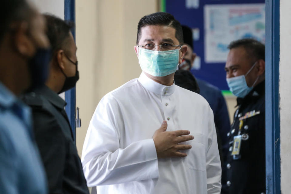 Putrajaya district police chief Mohd Fadzil Ali said initial investigations found that the Raya gathering at Azmin's house only involved those living at his official residence in Presint 10, Putrajaya. — Picture by Ahmad Zamzahuri