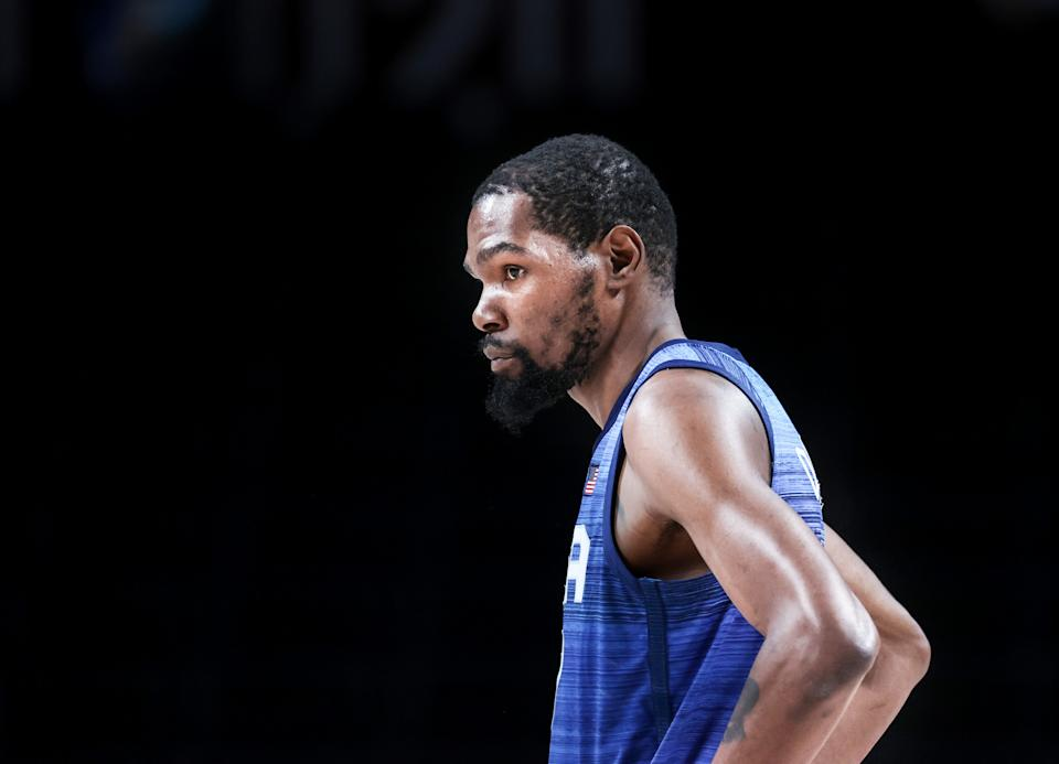 This Team USA men's Olympic hoops roster is less than ideal, but it doesn't need to be. It has Kevin Durant. (Photo by Elif Ozturk Ozgoncu/Anadolu Agency via Getty Images)