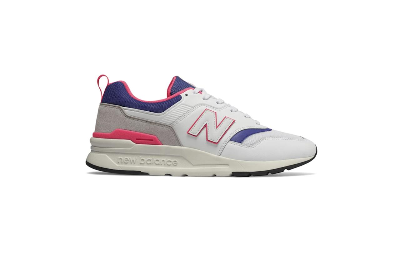 """$90, Todd Snyder. <a href=""""https://www.toddsnyder.com/collections/sale/products/new-balance-997h-white-white"""">Get it now!</a>"""