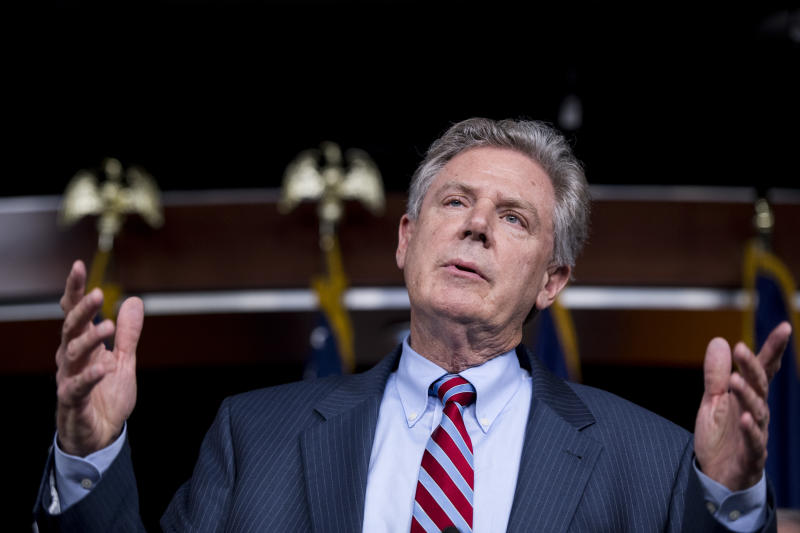 UNITED STATES - JULY 20: Rep. Frank Pallone, D-N.J., participates in the House Democrats' news conference on health care reform in the Capitol on Thursday, July 20, 2017. (Photo By Bill Clark/CQ Roll Call)
