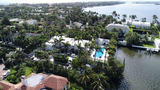 PHOTO: The home of Jeffrey Epstein has a large waterfront footprint in the Town of Palm Beach, not far from President Trump's Mar-a-Lago. (Miami Herald/Tribune News Service via Getty Images)