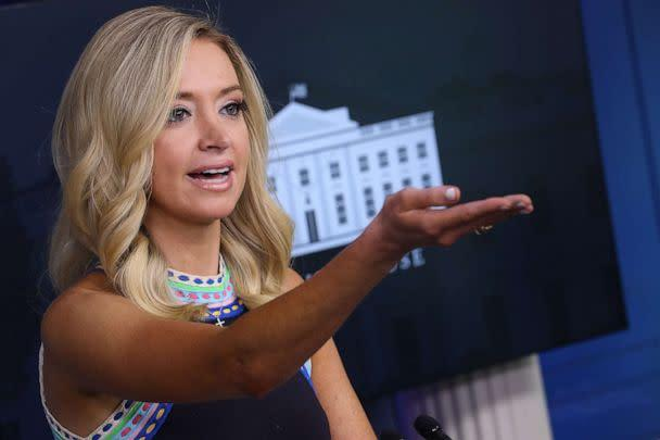 PHOTO: White House press secretary Kayleigh McEnany holds a news conference in the Brady Press Briefing Room at the White House on Sept. 24, 2020, in Washington, D.C. (Chip Somodevilla/Getty Images)