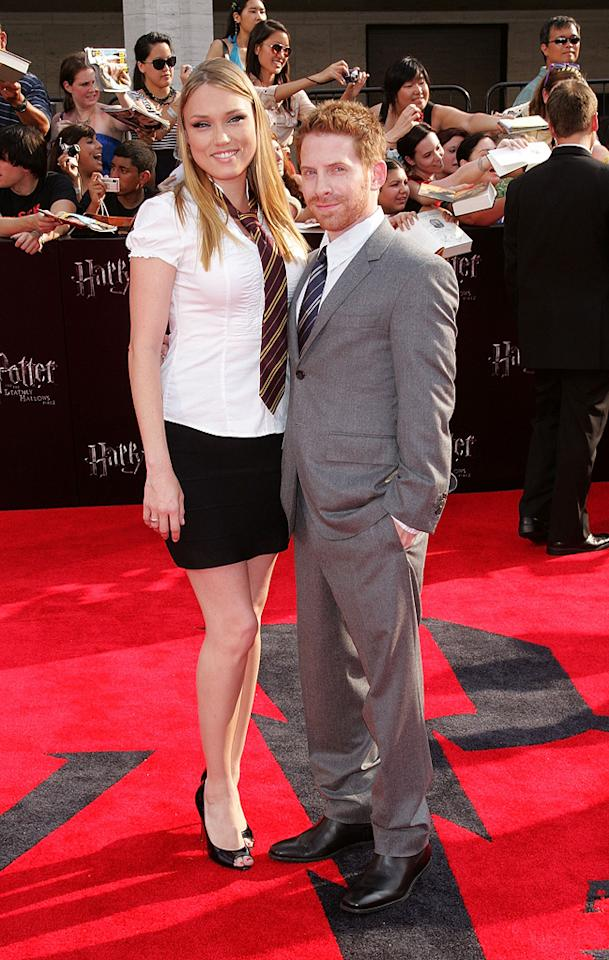 """<a href=""""http://movies.yahoo.com/movie/contributor/1800018683"""">Seth Green</a> at the New York City premiere of <a href=""""http://movies.yahoo.com/movie/1810004624/info"""">Harry Potter and the Deathly Hallows - Part 2</a> on July 11, 2011."""