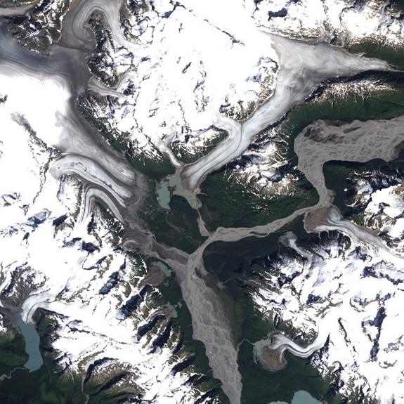 Alaska's Shrinking Glaciers Seen from Space (Photo)