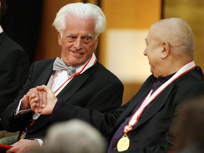 German Architect Frei Otto (L), known for his airy, tent-like structures, died on Monday aged 89 (AFP Photo/Toshifumi Kitamura)