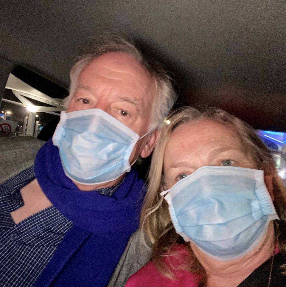 Lyndey and her partner John have been in quarantine at the Hilton since Sunday morning. Photo: Instagram/lyndeymilan.