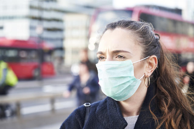 People could be required to cover their faces in public when lockdown restrictions are eased, Boris Johnson has suggested, despite officials claiming it does not halt the spread of coronavirus. (Getty Images)
