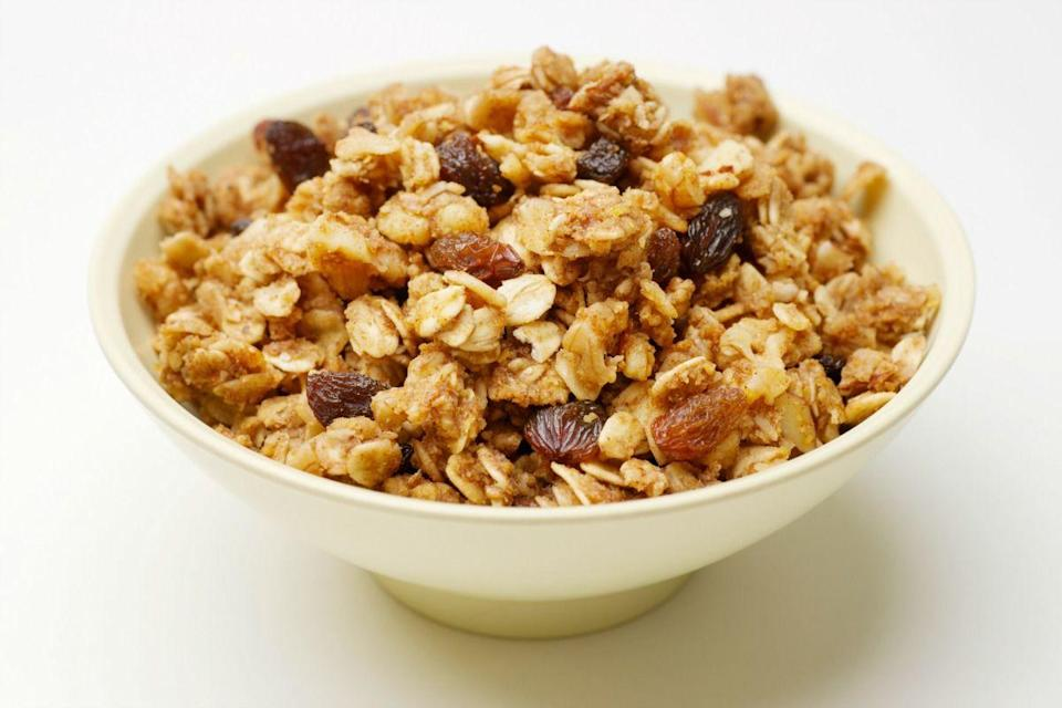 <p>For snacks, the couples reach for small bites handmade by Campbell—like dehydrated fruit and fruit leather, raw granola, and raw granola chocolate-chip cookies. Sounds ... cardboard-y.</p>