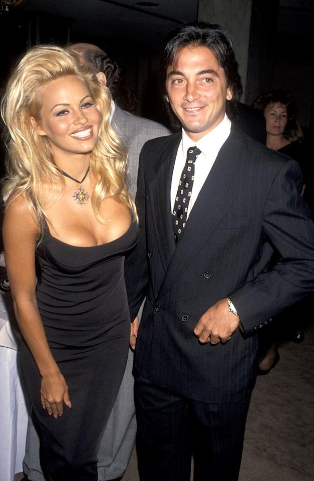 """Ever wonder how Pamela Anderson got that coveted gig on """"Baywatch"""" that shot her to international sex-symbol stardom? Well, Scott takes credit for that, telling Howard Stern that he's the one who sent a photo of Pam -- his girlfriend at the time -- to a casting agency. He also claims in a <i>People</i> interview that he proposed to her in the shower. The engagement quickly went down the drain. Ron Galella/<a href=""""http://www.wireimage.com"""" target=""""new"""">WireImage.com</a> - June 24, 1993"""