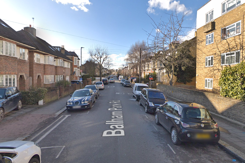 The victim was found dead at an address in Balham Park Road: Google