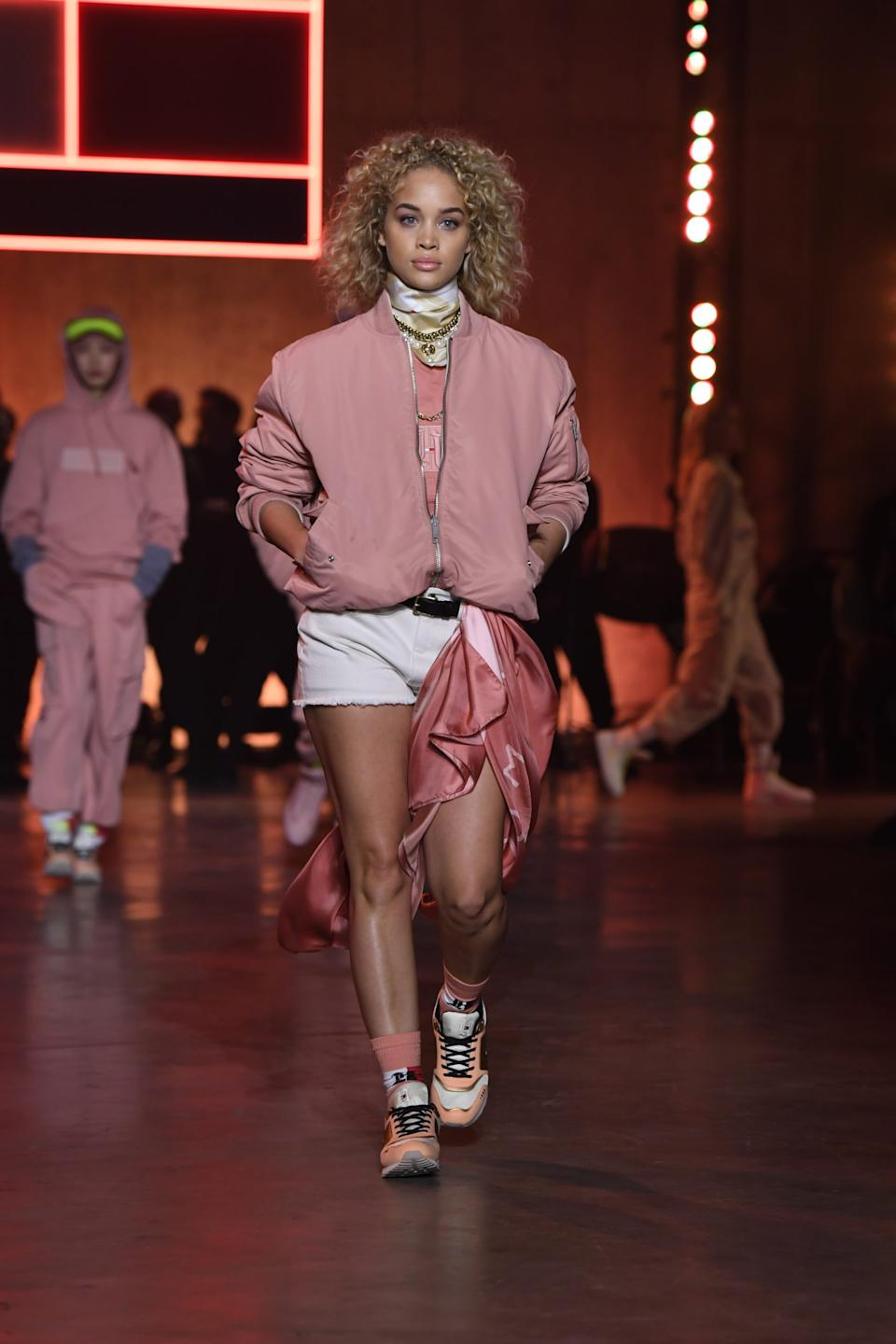 Jasmine Saunders walks the runway at the Tommy Hilfiger show during London Fashion Week. (Tommy Hilfiger)