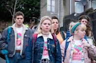 """<p>Set in Northern Ireland, <em>Derry Girls</em> takes you inside the lives of a group of high school girls in the '90s dealing with all the complexities of being a teenager—crushes, detention, cliques, and the like—in a time of political unrest. It's a beautiful story about how these teens maintain a sense of normalcy while the world around them is in chaos.</p> <p><a href=""""https://www.netflix.com/title/80238565"""" rel=""""nofollow noopener"""" target=""""_blank"""" data-ylk=""""slk:Available to stream on Netflix"""" class=""""link rapid-noclick-resp""""><em>Available to stream on Netflix</em></a></p>"""