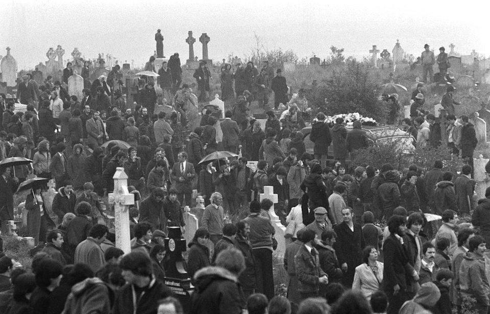 The funeral of Bobby Sands