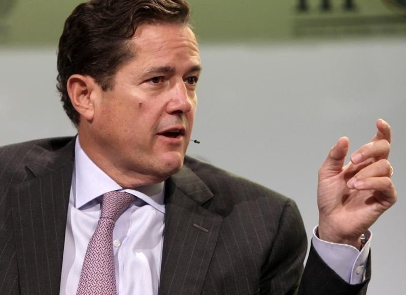 Jes Staley, CEO of JP Morgan Chase Investment Bank, speaks at the IIF meeting