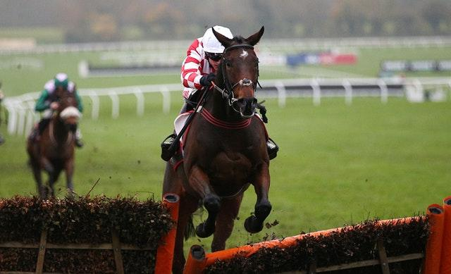 Hang In There, ridden by Adam Wedge, won the Sky Bet Supreme Trial Novices' Hurdle at Cheltenham (Nigel French/PA)