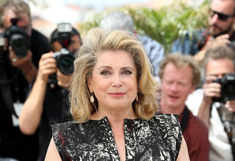 French actress Catherine Deneuve posing during a photocall in 2014