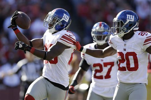 Giants force 3 INTs, rout 49ers 26-3