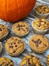 """<p>This recipe is vegan and made with plant-based protein powder and flaxmeal for an extrasatiating muffin you can enjoy for breakfast, a snack, or dessert. One 106-calorie muffin offers four grams of protein. </p> <p><strong>Get the recipe:</strong> <a href=""""https://www.popsugar.com/fitness/vegan-pumpkin-chocolate-chip-protein-muffins-47873714"""" class=""""link rapid-noclick-resp"""" rel=""""nofollow noopener"""" target=""""_blank"""" data-ylk=""""slk:vegan pumpkin chocolate-chip protein muffins"""">vegan pumpkin chocolate-chip protein muffins</a></p>"""
