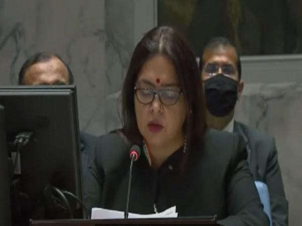Union Minister of State for External Affairs Meenakashi Lekhi addresses the UNSC Open Debate on 'UN Peacekeeping Operations: Transitions'