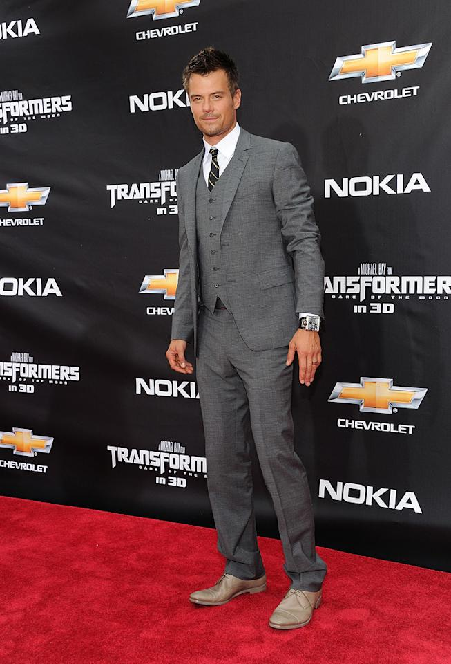"""<a href=""""http://movies.yahoo.com/movie/contributor/1804581818"""">Josh Duhamel</a> at the New York City premiere of <a href=""""http://movies.yahoo.com/movie/1810159115/info"""">Transformers: Dark of the Moon</a> on June 28, 2011."""