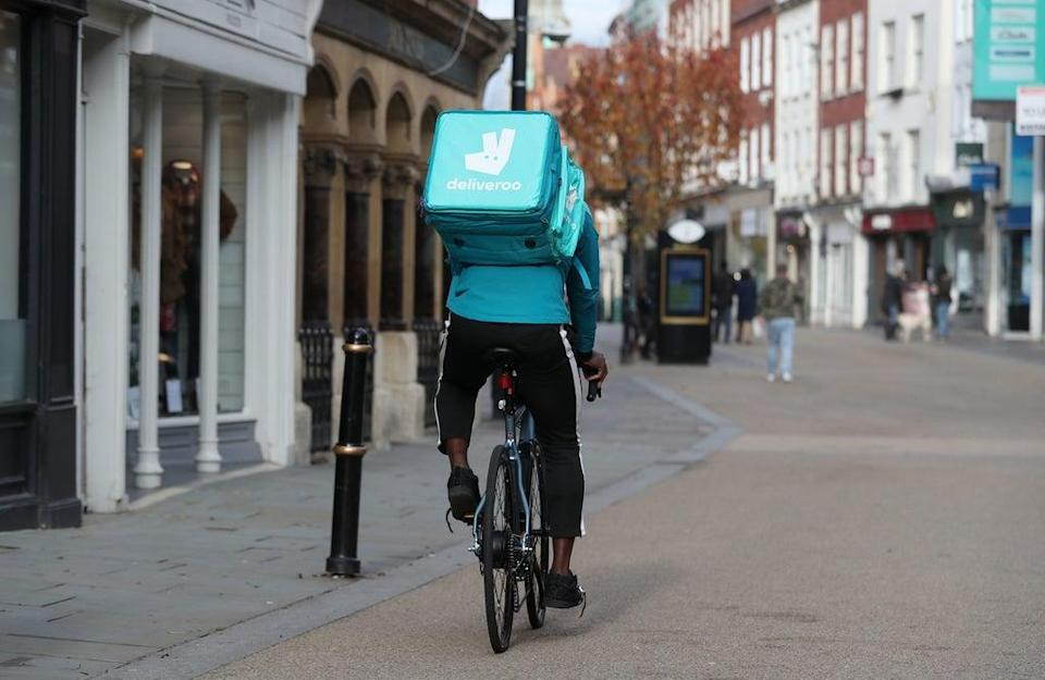 Food delivery firm Deliveroo is among the brands who will be offering incentives to encourage younger people to get vaccinated (David Davies/PA) (PA Wire)