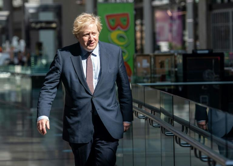 The meeting was first time Boris Johnson has taken part in the talks, which began in March (AFP Photo/John NGUYEN)
