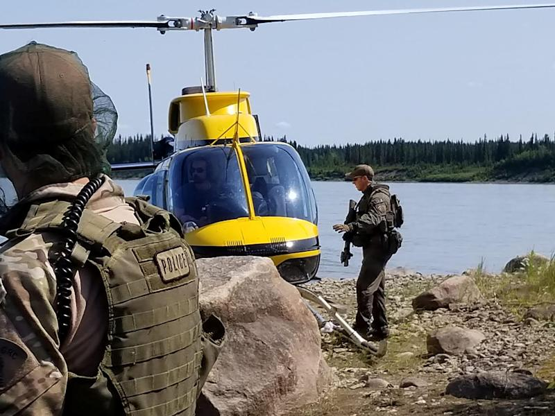 Royal Canadian Mounted Police (RCMP) continue their search for Kam McLeod and Bryer Schmegelsky, two teenage fugitives wanted in the murders of three people, near Gillam, Manitoba, Canada July 29, 2019. Picture taken July 29, 2019. Manitoba RCMP/Handout via REUTERS. ATTENTION EDITORS - THIS IMAGE HAS BEEN SUPPLIED BY A THIRD PARTY.