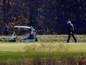 The news of US President Donald Trump's defeat came as he golfed in Virginia