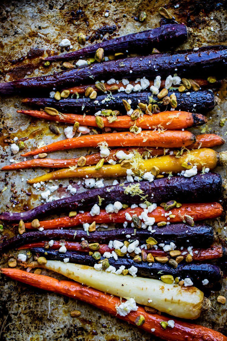 "<p>How stunning is this <a href=""https://www.countryliving.com/food-drinks/g3814/vegetable-side-dishes/"" rel=""nofollow noopener"" target=""_blank"" data-ylk=""slk:vegetable side dish"" class=""link rapid-noclick-resp"">vegetable side dish</a>? This <a href=""https://www.countryliving.com/food-drinks/g5165/carrot-recipes/"" rel=""nofollow noopener"" target=""_blank"" data-ylk=""slk:carrot recipe"" class=""link rapid-noclick-resp"">carrot recipe</a> is <em>almost</em> too pretty to eat. </p><p><strong>Get the recipe at <a href=""https://www.ambitiouskitchen.com/maple-glazed-carrots/"" rel=""nofollow noopener"" target=""_blank"" data-ylk=""slk:Ambitious Kitchen"" class=""link rapid-noclick-resp"">Ambitious Kitchen</a>.</strong> </p>"
