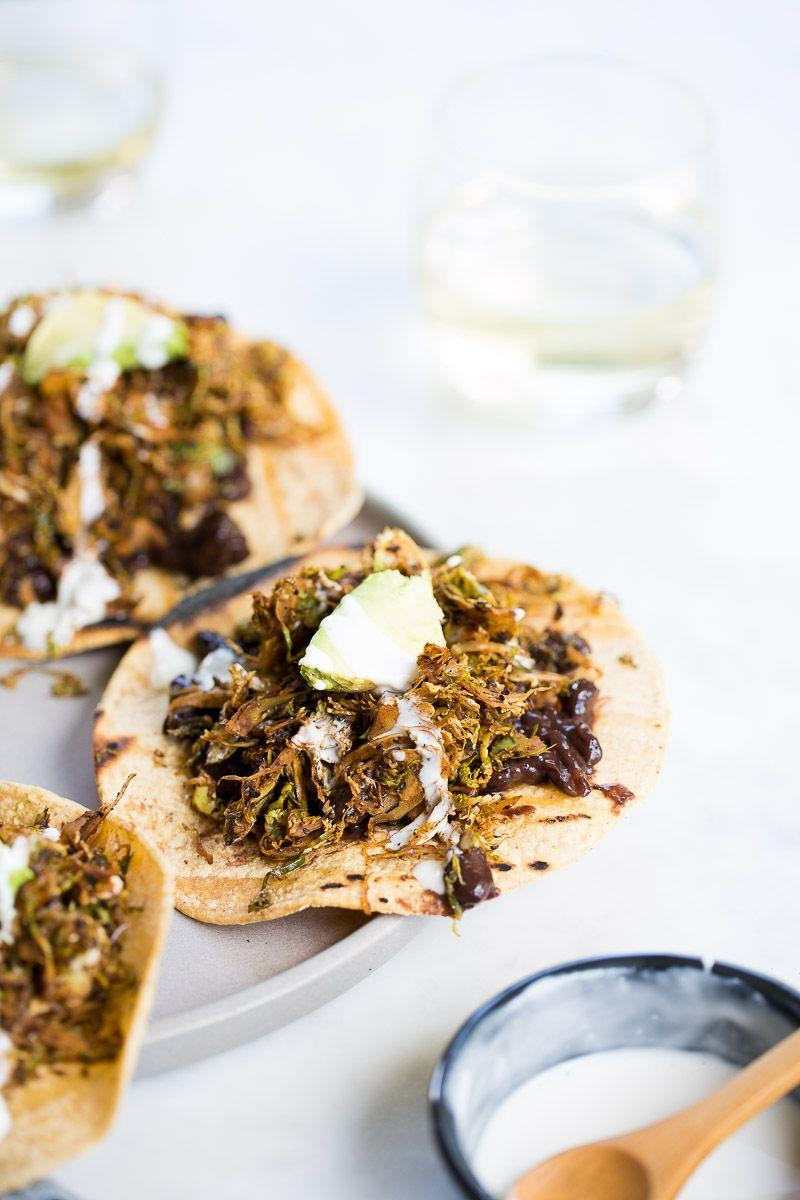 """<p>You'll want this traditional Mexican staple every night of the week. Made with Brussels sprouts-based vegan chorizo instead of pork, and topped with black beans and vegan Mexican cashew crema, you get a meal bursting with both flavor and nutrients.</p><p><a class=""""link rapid-noclick-resp"""" href=""""https://www.brownsugarandvanilla.com/super-powerful-vegan-chorizo-tostadas/"""" rel=""""nofollow noopener"""" target=""""_blank"""" data-ylk=""""slk:GET THE RECIPE"""">GET THE RECIPE</a></p><p><em>Per serving: 268 calories, 11 g fat (4 g saturated), 314 mg sodium, 37 g carbs, 3 g sugar, 10 g fiber, 7 g protein</em></p>"""