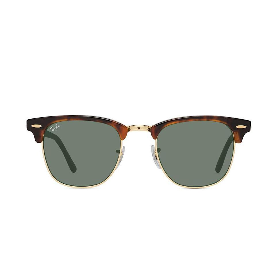 """<p>glassesusa.com</p><p><strong>$154.00</strong></p><p><a href=""""https://go.redirectingat.com?id=74968X1596630&url=https%3A%2F%2Fwww.glassesusa.com%2Ftortoisegold-medium%2Fray-ban-3016-clubmaster%2F46-m6888.html&sref=https%3A%2F%2Fwww.countryliving.com%2Fshopping%2Fgifts%2Fg23496922%2Fteen-boy-gifts%2F"""" rel=""""nofollow noopener"""" target=""""_blank"""" data-ylk=""""slk:Shop Now"""" class=""""link rapid-noclick-resp"""">Shop Now</a></p><p>Here's an easy way to introduce your teen to his very first pair of """"grown-up"""" sunglasses. This Ray-Ban style is trendy and flatters most face shapes. 😎</p>"""