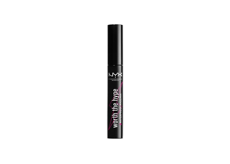 """<p>Anything with this name has to <em>really</em> be worth the hype. Luckily, this waterproof volumizing and lengthening formula doesn't disappoint.</p><br><br><strong>NYX Professional Makeup</strong> Worth The Hype Waterproof Mascara Black, $5.59, available at <a href=""""https://www.target.com/p/nyx-professional-makeup-worth-the-hype-waterproof-mascara-black/-/A-75557775"""" rel=""""nofollow noopener"""" target=""""_blank"""" data-ylk=""""slk:Target"""" class=""""link rapid-noclick-resp"""">Target</a>"""
