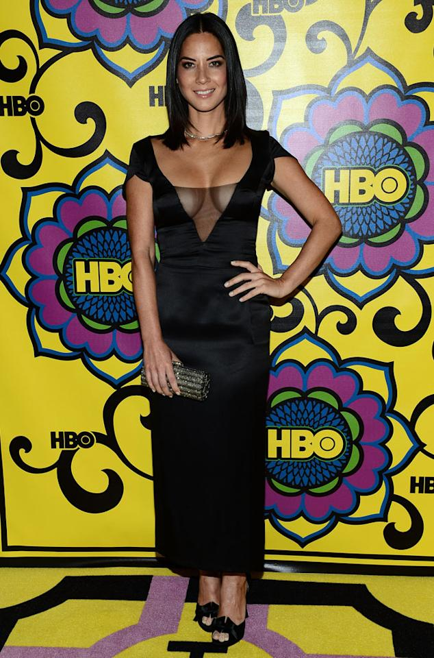 Olivia Munn arrives at HBO's Annual Emmy Awards Post Awards Reception at the Pacific Design Center on September 23, 2012 in West Hollywood, California.