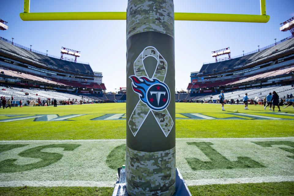 The Titans' game in Week 4 was postponed this week due to a COVID-19 outbreak. (Photo by Brett Carlsen/Getty Images)