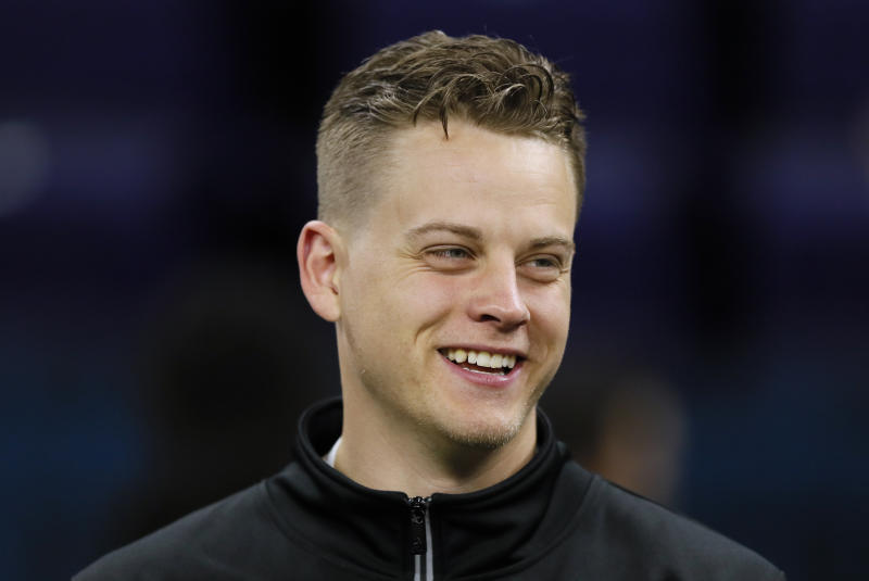 Joe Burrow and the Bengals agreed to a rookie deal. (AP Photo/Charlie Neibergall)