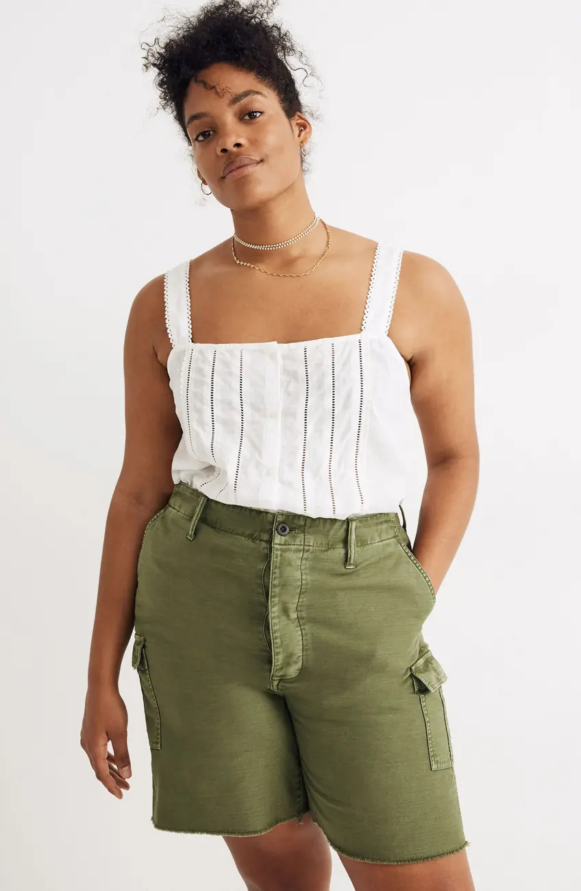 "<br><br><strong>Madewell</strong> Cutoff Cargo Shorts, $, available at <a href=""https://go.skimresources.com/?id=30283X879131&url=https%3A%2F%2Fwww.nordstromrack.com%2Fs%2Fmadewell-cutoff-cargo-shorts%2F5675292%3Fcolor%3DPALM%2520TREE"" rel=""nofollow noopener"" target=""_blank"" data-ylk=""slk:Nordstrom Rack"" class=""link rapid-noclick-resp"">Nordstrom Rack</a>"