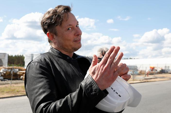 <p>SpaceX founder and Tesla CEO Elon Musk visits the construction site of Tesla's gigafactory in Gruenheide, near Berlin</p> (REUTERS)